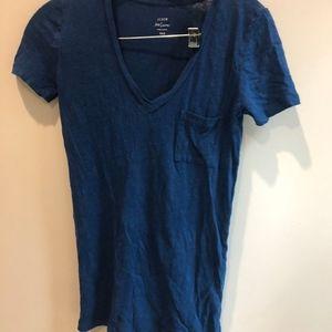 J.crew xxs blue linen shirt